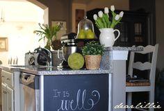 "Dear Lillie: A Chalkboard ""Wall"""
