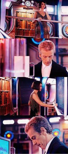 """""""I love you."""" According to Steven Moffat, although she is on the phone with Danny, she was talking to the Doctor when she said those words."""