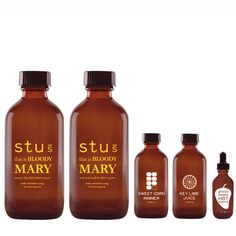 Bloody Mary Mixology Kit by Stu's Sours- give your Bloody Mary a kick  with ghost pepper hot sauce & key lime juice!