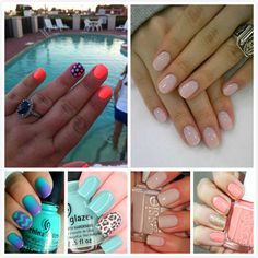Colored Nails You Must Try This Season ! Did mine in the top right, Loves this!!!