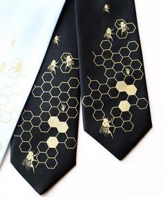 Bee Hive Men's Necktie