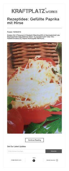 Rezeptidee: Gefüllte Paprika mit Hirse