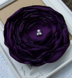 Extra Large Fabric Flower in Purple  Vintage by curtseyboutique, $8.00