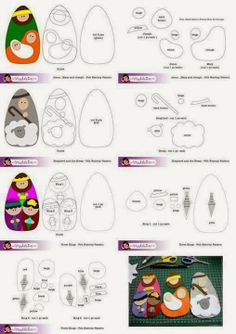 Natividad en fieltro - felt nativity with pattern Nativity Crafts, Christmas Projects, Felt Crafts, Holiday Crafts, Nativity Ornaments, Nativity Sets, Felt Christmas Ornaments, Christmas Nativity, Christmas Holidays
