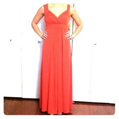 "Coral Evening Gown Sweetheart, sleeveless dress Side zipper and hook 95% Polyester 5% Spandex 57"" long Sangria Dresses Maxi"