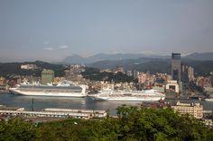 基隆港地標觀郵輪  Taiwan