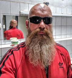 Bald Men With Beards, Bald With Beard, Grey Beards, Bald Man, Long Beards, Badass Beard, Epic Beard, Shaved Head With Beard, Shaved Heads