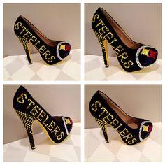 Custom heels Pittsburgh Steelers heels  steelers  by Blingshoeshop, $180.00