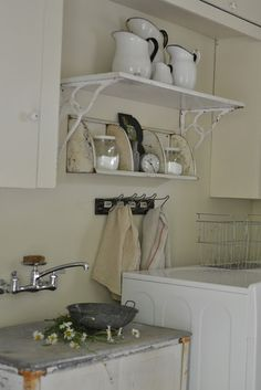 Charming laundry room - it's all in the details