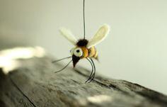 One Little Felt Bee  - Needle Felt Bee - Home Decoration