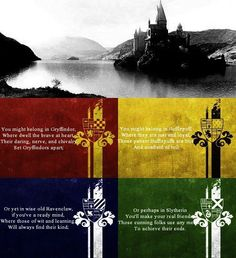 Houses of Hogwarts: Slytherin; Ravenclaw and Hufflepuff Harry Potter Houses, Harry Potter Love, Harry Potter Fandom, Ravenclaw, Hufflepuff Pride, Sorting Hat Song, Sorting Quiz, Magie Harry Potter, Mischief Managed