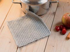 DIY tutorial: Pannenlappen maken door middel van Tunisch haken via DaWanda.com