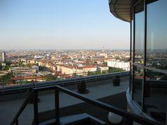 Weitblick über Wien Terrasse das TURM Paris Skyline, River, Outdoor, Patio, Outdoors, Outdoor Games, The Great Outdoors, Rivers