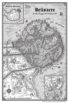 Mike Schley - Google+ - Ready for a trip to the city of Belisaere from Garth Nix's new novel #Clariel? Archival #fantasymap prints are now available here – http://mikeschley.zenfolio.com/p923843744/h3375f7f2#h3375f7f2