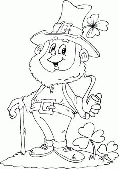 Free Colouring Pages Saint Patrick Leprechaun For Little Kids ...