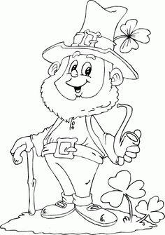 Leprechaun Coloring | leprechaun holding pipe coloring page - Coloring.com