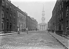 """View of Hardwicke Street from North Frederick Street End, Drumcondra, Co. Dublin"" from the National Library of Ireland's Eason Photograph Collection. Photograph ca."
