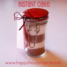 Layered Cake Mix Jars