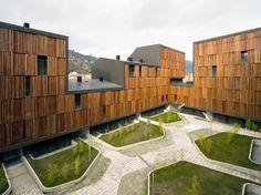 131 viviendas protegidas by estudio Zigzag arquitectos (Mieres, Asturias, Spain) #architecture