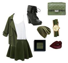 """Greenish"" by kowalacutie3 ❤ liked on Polyvore featuring LE3NO, Alice + Olivia, Chicnova Fashion, Design Inverso, Echo, Tory Burch, Bobbi Brown Cosmetics, women's clothing, women's fashion and women"