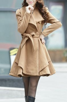 Love this wool coat!  Also in Orange, green and pink! (via Etsy)