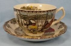 friendly village by johnson brothers   Nice Friendly Village Cup Saucer Johnson Brothers O   eBay