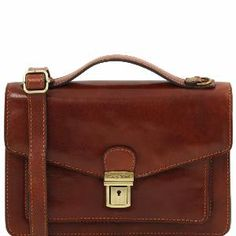 7546df1591 Sac Bandoulière Homme Marron Cuir -Tuscany Leather