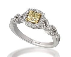 Le Vian Bridal® Sunny Yellow Diamond™ ring set in 18K Honey Gold™/Vanilla Gold®, accented with Vanilla Diamonds®.