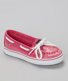 Take a look at this Hot Pink Sequin Biscayne Boat Shoe by Sperry Top-Sider on #zulily today!