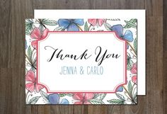Thank You Card by aticnomar on Creative Market