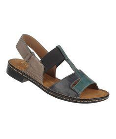 Naturalizer Inky Navy Ravanna Leather Sandal