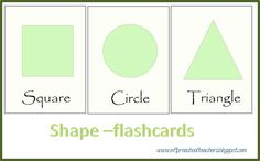 ESL/EFL Preschool Teachers: die cut shapes  Slap game: Play Slap: Students listen and touch the right card to get points.