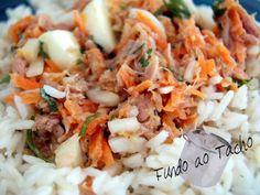Receita de Salada de Atum e Arroz .:. Kitchenet .:. Livro de culinária do aeiou