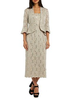 RM Richards Long Lace Jacket Dress