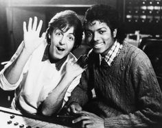 Paul McCartney & Michael Jackson.