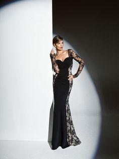 Schnittmuster: Spitzen-Abendkleid - bodenlang - Abendkleider - Kleider - Damen - burda style