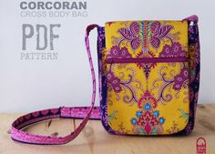 Serger Pepper 4 Craftsy - Crossbody Bag Patterns - seven pockets bag
