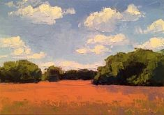 """Daily+Paintworks+-+""""Ripe+Wheat,+Summer""""+-+Original+Fine+Art+for+Sale+-+©+Mary+Gilkerson"""