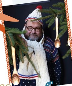 Sweet Paul and his Copper Leaf Spoon Tree Ornaments! So cute!