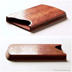 Madera tarjetas holder - caso de tarjeta de visita - accesorio con estilo para él o su - caoba y nogal - hecho a pedido