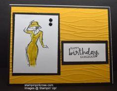 Stampin' Up! Birthday card made with Beautiful You stamp set and designed by Demo Pamela Sadler. See more cards at stampinkrose.com #stampinkpinkrose #etsycardstrulyheart