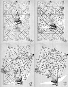[ Quarto e último post do mês de dezembro e último de 2015 ] Que o tsuru (grou), símbolo da longevidade e da paz, acompanhe vocês em todos os momentos! Abraços Redobrados para 2016. Por curiosidade, eu procurei um crease pattern do tradicional tsuru, mas não encontrei muitas referências. Então, eu resolvi desdobrar um tsuru e tentar desenhar um CP *. Adoro as formas geométricas, e acabei brincando com o resultado, inventando algumas composições/ilustrações.