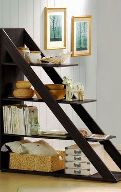 Diagonal room divider shelf #furniture_design