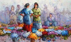 lebriz.com Arabian Art, Flower Market, Prismacolor, Poppies, Projects To Try, Flowers, Artist, Flower Paintings, Acrylic Paintings