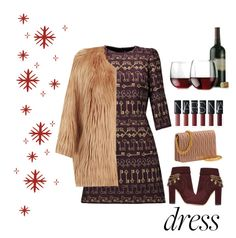 red wine. .. by ariatorva on Polyvore featuring polyvore fashion style Dolce&Gabbana Pinko Aquazzura Libbey clothing