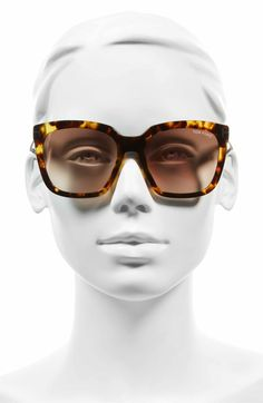 8e774811a4 Main Image - Tom Ford Amarra 55mm Gradient Lens Square Sunglasses Lens