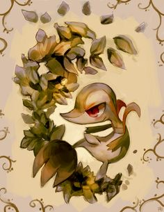 Snivy used Leaf Tornado by =purplekecleon on deviantART