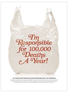 Stop using plastic bags. They kill around marine animals a year because so many end up in the ocean. Save Our Earth, Save The Planet, Our Planet, Wall E, Angst Quotes, Party Make-up, Plastic Pollution, Ocean Pollution, Design Poster