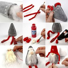 - The best DIY gift ideas for 2018 New Year – New Year, Gifts - feltcraftsdiy : ?- The best DIY gift ideas for 2018 New Year – New Year, Gifts - feltcraftsdiy Gnome Ornaments, Christmas Ornament Crafts, Christmas Gnome, Diy Christmas Gifts, Handmade Christmas, Holiday Crafts, Christmas Decorations, Modern Christmas, Christmas Trees