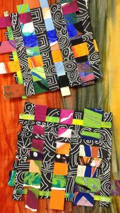 Woven paper by Judy Gula of Artistic Artifacts Paper Weaving, Weaving Art, Weaving For Kids, 2nd Grade Art, Jr Art, Inspiration Art, School Art Projects, Middle School Art, Art Lessons Elementary